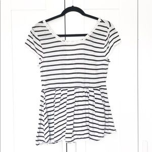 Free People REVERSIBLE Striped Blouse
